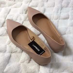 Express Pink nude flats with 1/2 in heel
